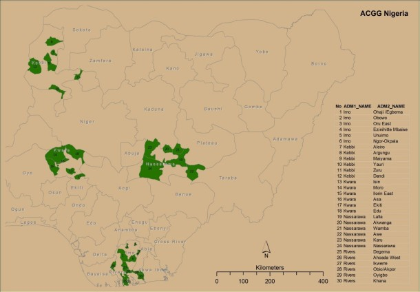 ACGG sites in Nigeria