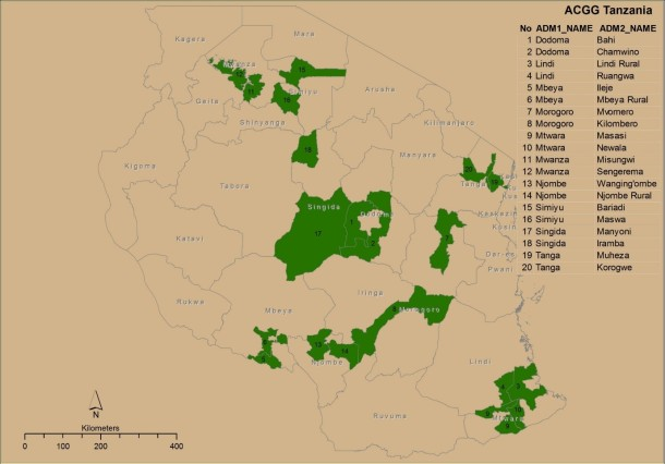 ACGG sites in Tanzania