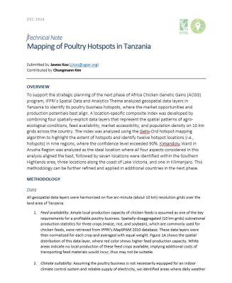 IFPRI Tanzania poultry hotspot analysis