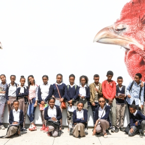 Educational tours to ILRI poultry research facility inspire young students in Ethiopia